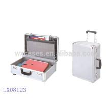 Nuevo maletín de aluminio portable de llegada con 2 ruedas de alta calidad de China fabricante