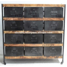 Vintage Industrie Schublade Schrank Holz Metall