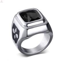 Оптовая Продажа Из Нержавеющей Стали Серебро Черный Камень Кольцо Ювелирные Изделия