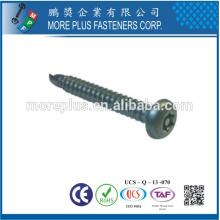 Taiwan BSW NO.8-18X1 / 2 '' Pan Head Torx Drive White Znic plaqué vis de sécurité