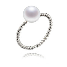Simple Classical Freshwater Real Lady Pearl Ring