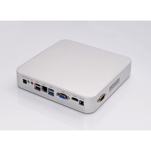 Fanless HTPC Kodi Quod Core Mini PC Windows 10 VGA HDMI COM USB3.0 Optical Computer