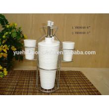 Keramik Geschirr Geschirr Öl und Essig Flasche & Pfefferstreuer