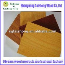 Tipos de madeira de compensado Melamina