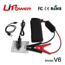 Mini tamaño 14000mAh 12v rc coche de la batería saltar comienzo de la central eléctrica compresor con clips