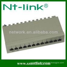 1u 10inch 12 port cat5e rj45 stp blank patch panel