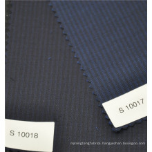 Superfine high quailty worsted 70%wool 30%polyester stripe fabric for suit jacket uniform