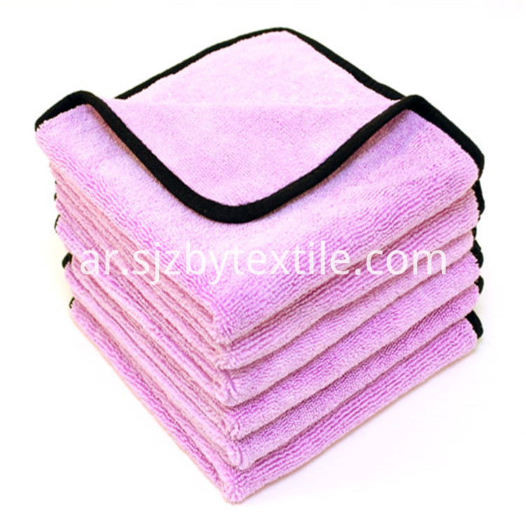 Coral Velvet Car Towel