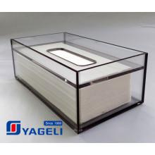 Boîte de distributeur de tissu acrylique transparente personnalisée pour salle de bain