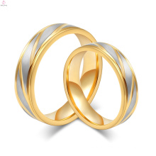 2017 moda ouro titanium aço casais dedo anelar para casais