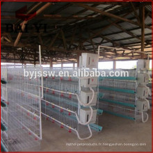 Système de cage de poulet de type H