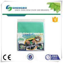 Tissu de nettoyage non tissé perforé à l'aiguille 50 * 42cm ORANGE / VERT