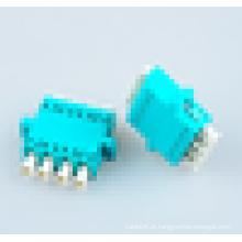 Adaptador de Fibra Óptica LC Aqua OM3, lc 50/125 quad / 4 cores Adaptador OM3 de Fibra Óptica com 1000 durabilidade