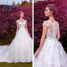 Lace Appliques Pearls Sequined Beading Wholesale Wedding Dresses