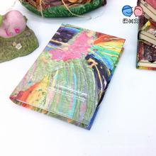 Óleo de argola Series Round Back Notebook com cores criativas Páginas internas (XLJ64176-X05)