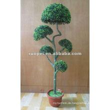 Künstlicher Buchsbaum-Ball-Bonsais für Garten-Dekoration, künstliche Anlage