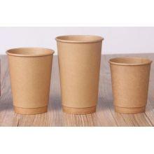 Herkunft Kraft Papierbeschichtung Doppelwand Einweg Hot Kaffee Trinkbecher