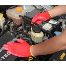 Nitrilo revestido luvas de segurança do trabalho (N1552)