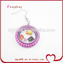 Spezielle Acryl lila Farbe Ohrring Frauen Schmuckhersteller