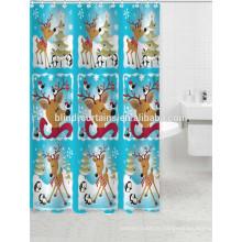 Rideaux de douche en tissu de Noël