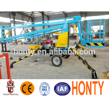 hydraulic mounted truck lift platform working electrical man crank lift  small boom lifts introduction  small boom lifts : Structure  small boom lifts : working range  small boom lifts paremeters:   small boom lifts's advantages :