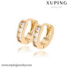 90189- Xuping Huggie Earrings Jewelry Fashion Gold Plated Earrings With Good Quality