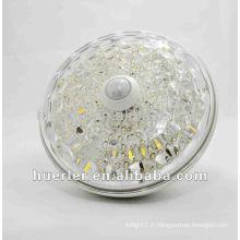 Lumière LED 10W e27 haute qualité avec capteur de mouvement