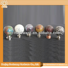 Eisen Vorhang Finial, Aluminium Vorhang Stange Finial, Kristall Vorhang Stange Finial, Zink-Legierung Vorhang Finial