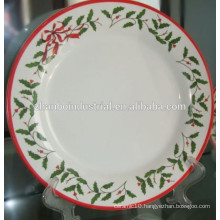 Ceramic white porcelain christmas plate dish set