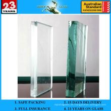 6.38-42.3mm Vidrio laminado PVB verde francés con AS / NZS2208