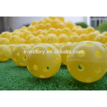 Bolas de golfe de Traning indoor com a marca Multi cores aleatórias ar respiradouros Golf bola prática plástica por atacado