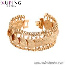 75192 Xuping nouvelles conceptions de bracelet en or en gros promotionnel en laiton brassard chaînes bracelet