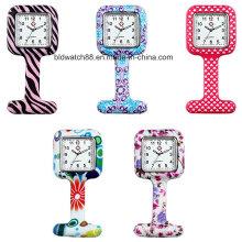 Printing Cover Unisex Nurses Lapel Silicone Watch