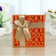 Wholesale Chocolate Printing Box Custom Design Boxes Gift Packaging Box with Bow Ribbon