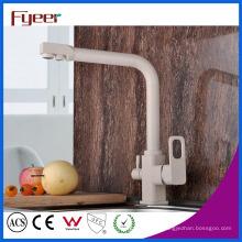 Fyeer Modern 3 Way latão torneira do filtro da cozinha