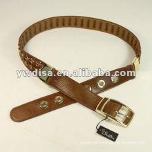 Wide Braided Chain Genuine Leather Belt
