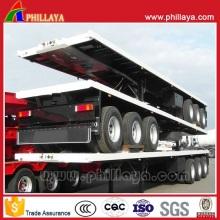 3-Achsen 60 Tonnen 40FT Flachbett Plattform Container-Auflieger