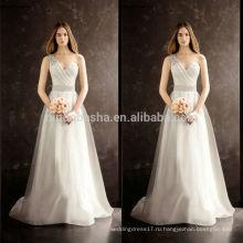 2014 горячие продажи известный дизайнер свадебное платье одно плечо длинные линии хвост свадебное платье из органзы со складками Sash Кристалл NB0755