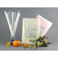 Biologisch abbaubare kompostierbare umweltfreundliche Einzelverpackung PLA Stroh (79002)