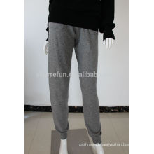 Luxurious 12GG flat knitted 100% pure cashmere pants low price