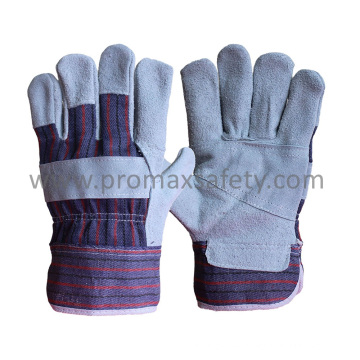 Patched Palm Cow Split Leather Glove