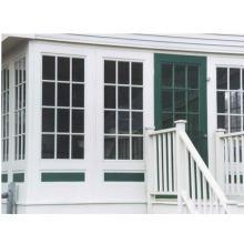 Ventanas colgantes individuales del PVC del estilo americano con la ventana deslizante del precio de fábrica