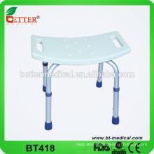 Assento de cadeira de banho de alumínio