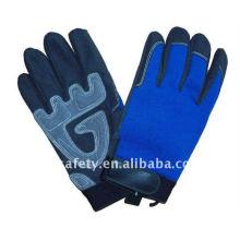 Anti-vibration leather work mechanic glove