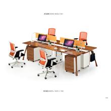 Modern Office System Workstation Staff Computer Desk with Partition /Drawer Unit