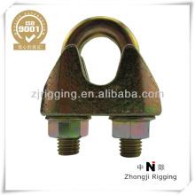 DIN 1142 verzinkter Drahtseilclip aus Stahl