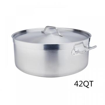 42Quart Braiser inferior de sándwich de acero inoxidable con tapa