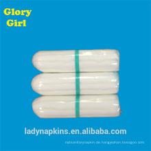 Persönliche pflanzliche weiche Baumwolltasche digitale Tampons mit leichter Größe