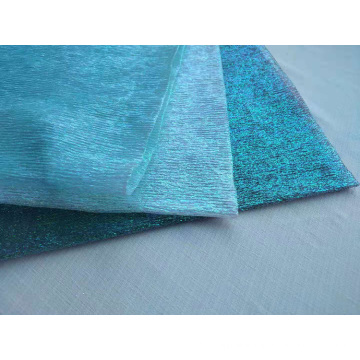 Crushed Iridescent Organza Stoff