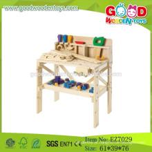 2015 Novo brinquedo de ferramentas de madeira para crianças, brinquedo de banco de ferramentas para criança, bancada de madeira